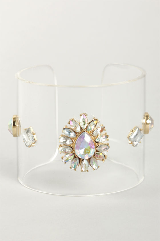 I Can See Clearly Now Rhinestone Lucite Cuff at Lulus.com!