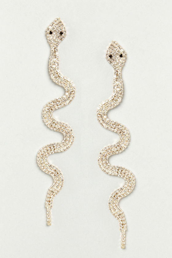 Medusa's Minions Rhinestone Snake Earrings at Lulus.com!