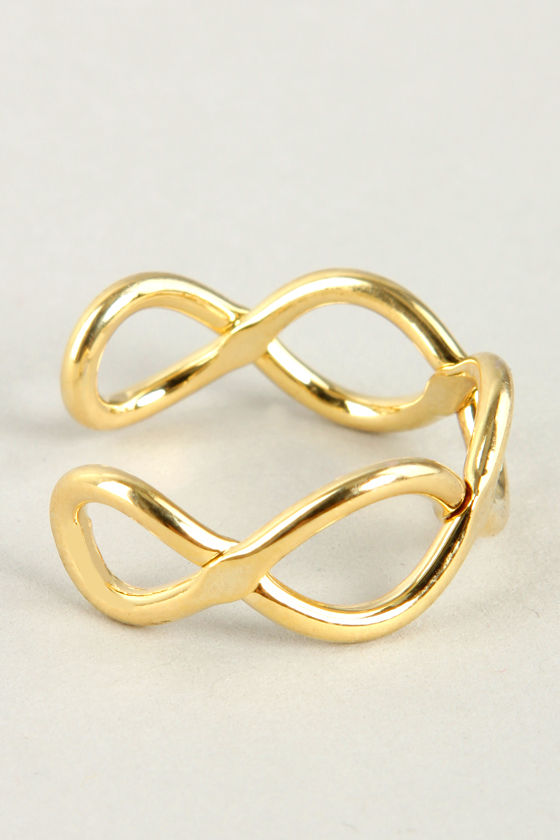 Intertwine and Dine Gold Ring at Lulus.com!