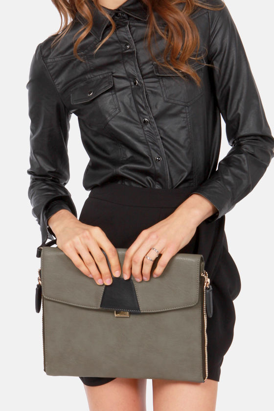 Magic Touch Grey Clutch at Lulus.com!