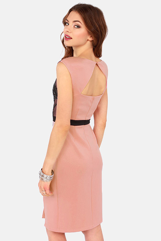 Grand Scheme Blush Pink Sequin Dress at Lulus.com!