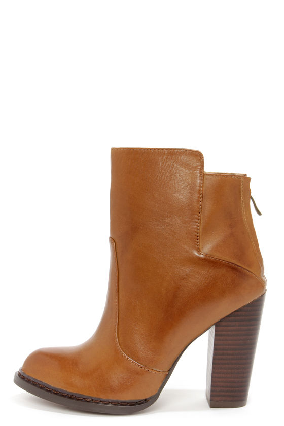 136d4d38cfcd Cute Brown Boots - High Heel Boots - Booties - Ankle Boots -  115.00