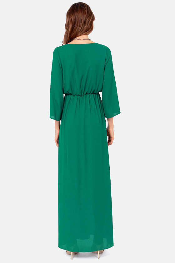 Wrapped in Romance Teal Maxi Dress at Lulus.com!