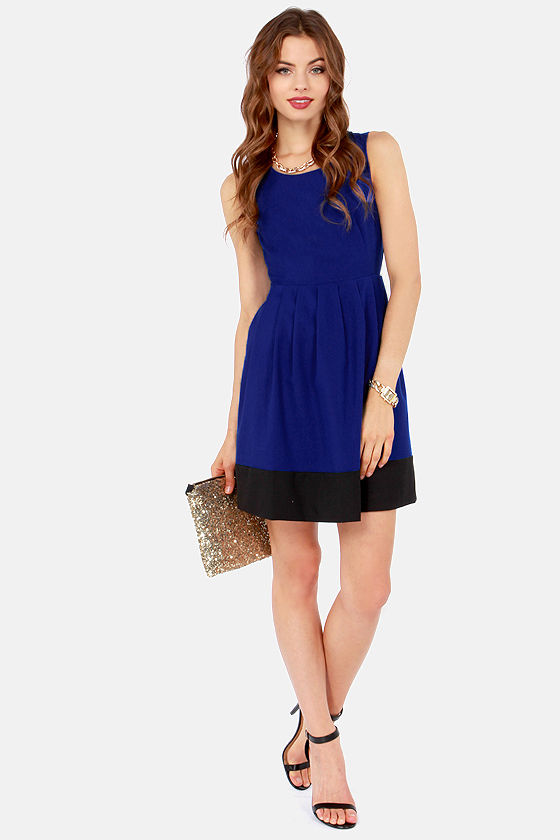 Aryn K Ready to Rendezvous Cutout Blue Dress at Lulus.com!