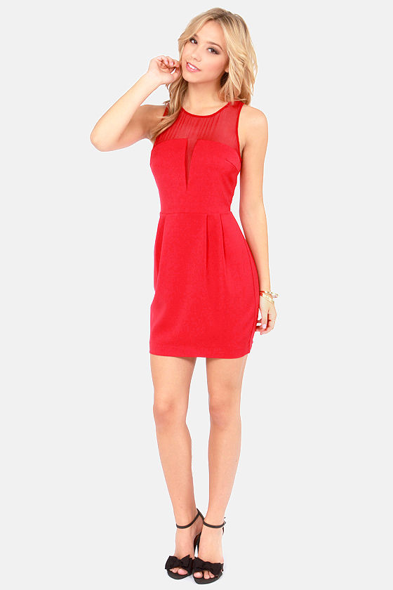 Aryn K Petit Four Cutout Red Dress at Lulus.com!