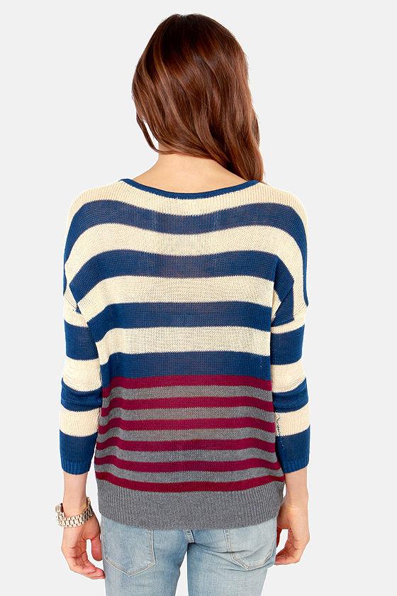 Team Effort Multi Striped Sweater at Lulus.com!