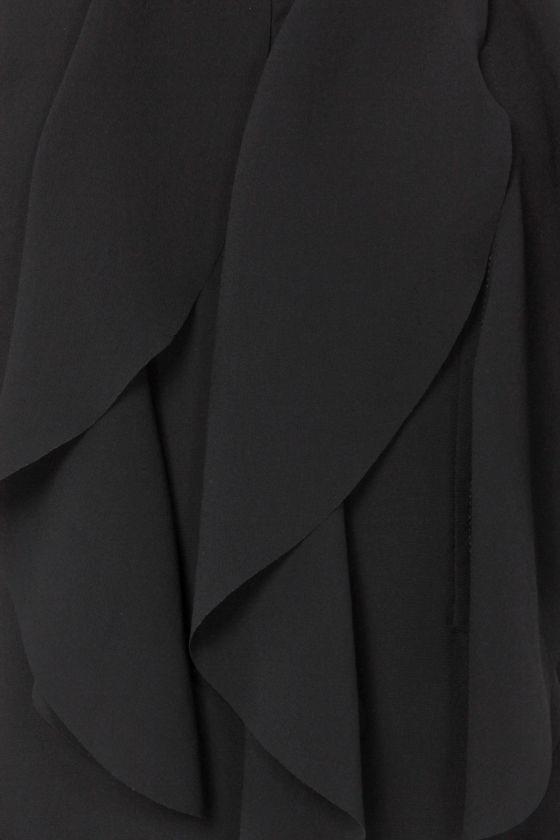 Ruffle Road Sleeveless Black Top at Lulus.com!
