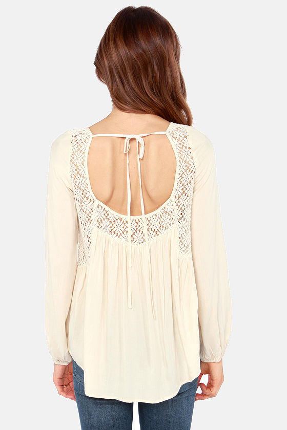 Bo-Home Free Light Beige Top at Lulus.com!