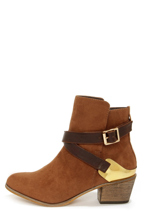 Cute Brown Boots - Ankle Boots - Booties - $53.00