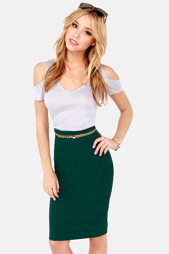 High Waisted Pencil Skirt Dress