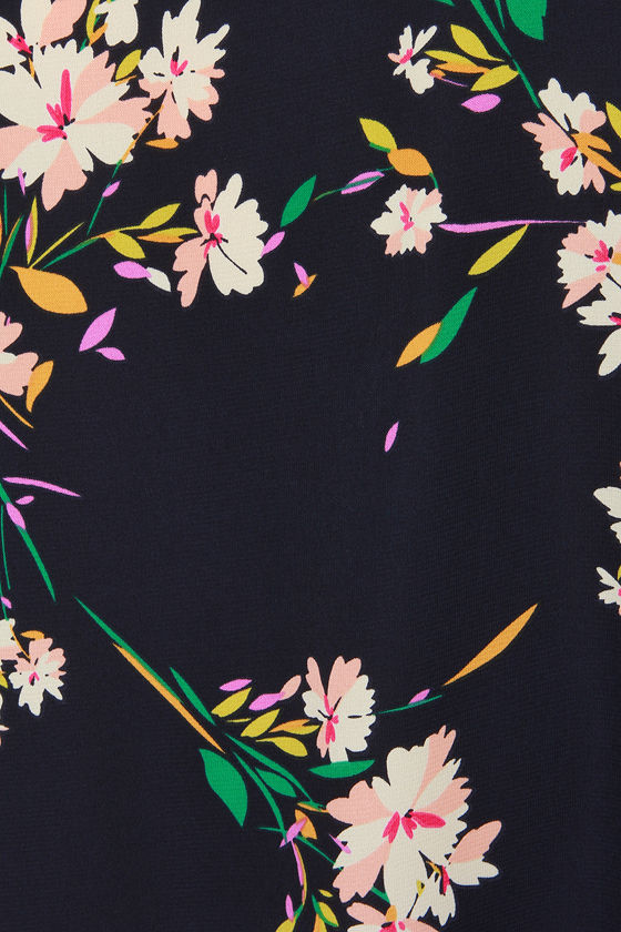 Herbaceous Babe Navy Floral Print Shift Dress 6
