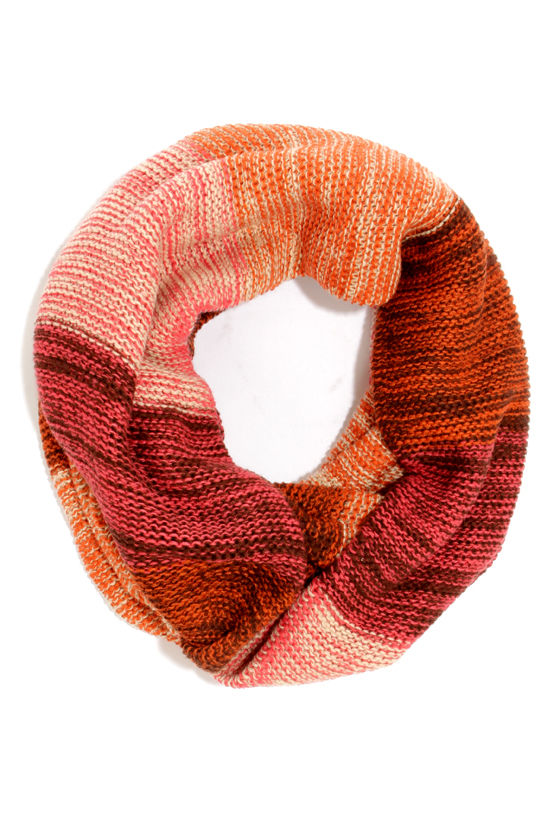 Delight Up My Life Pink and Orange Circle Scarf at Lulus.com!