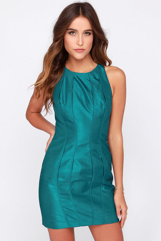 Keepsake Where I Find You Dress - Cute Teal Blue Dress - Cocktail ...