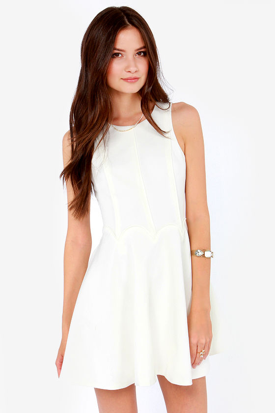 Keepsake Lucky Life Ivory Dress at Lulus.com!