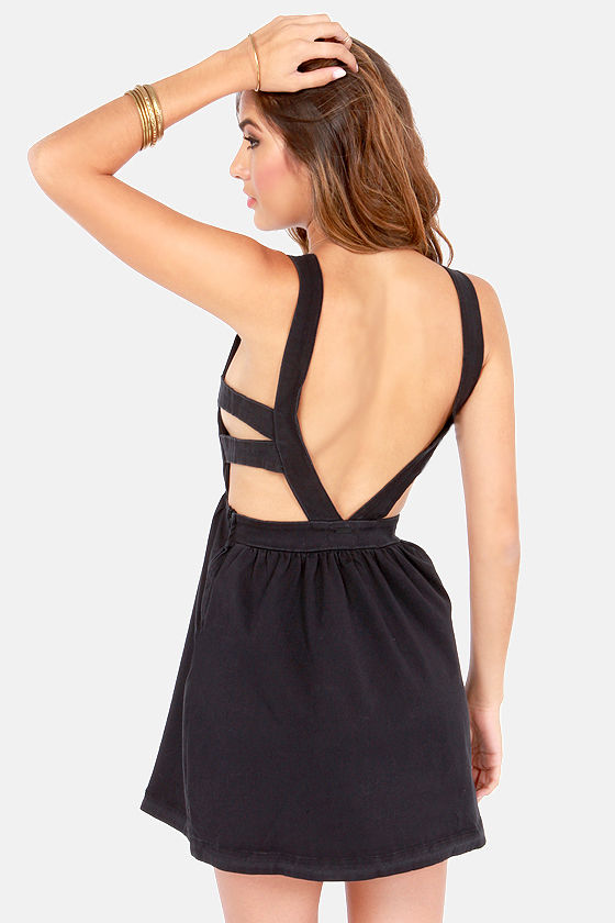 Billabong Venice Stroll Black Cutout Dress at Lulus.com!