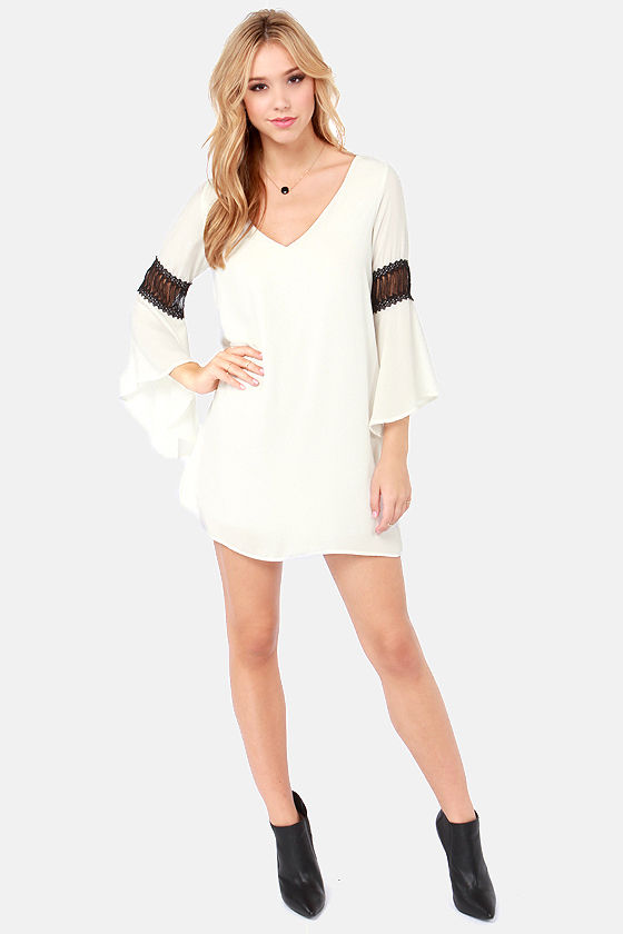 Tailor Maid Ivory Shift Dress at Lulus.com!