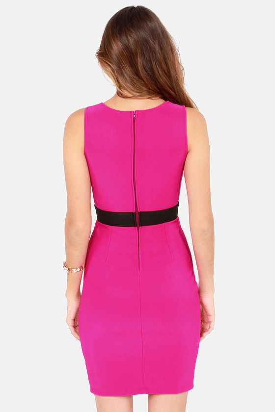 Elegant and Eligible Black and Magenta Dress at Lulus.com!