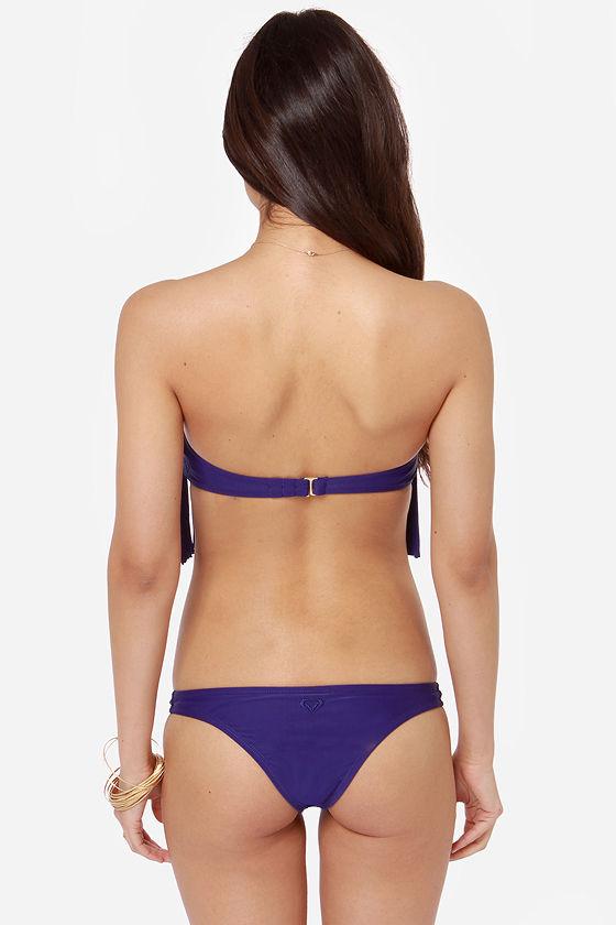 Roxy Fringe Blue Bandeau Bikini at Lulus.com!