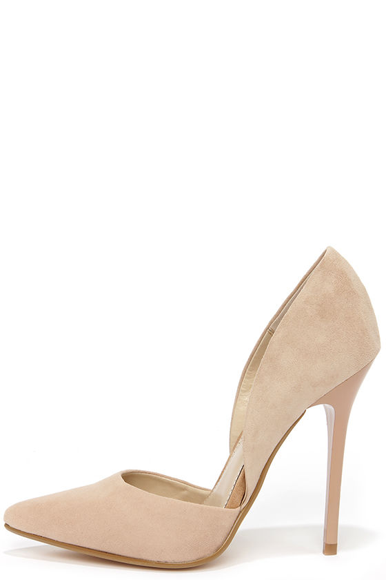 dd39703af59 Pretty Blush Suede Pumps - D Orsay Pumps - D orsay Heels