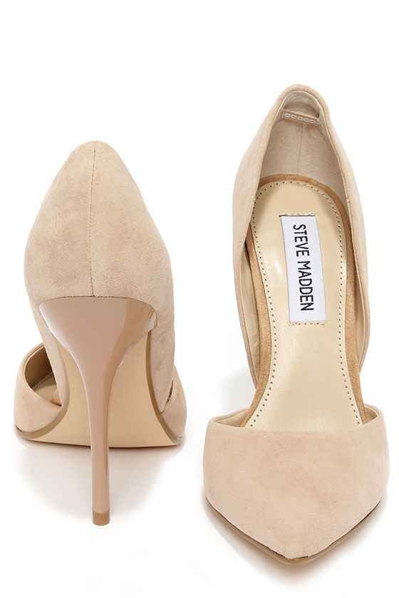 63d70563aa8 Steve Madden Varcityy Blush Suede Leather D'Orsay Pumps