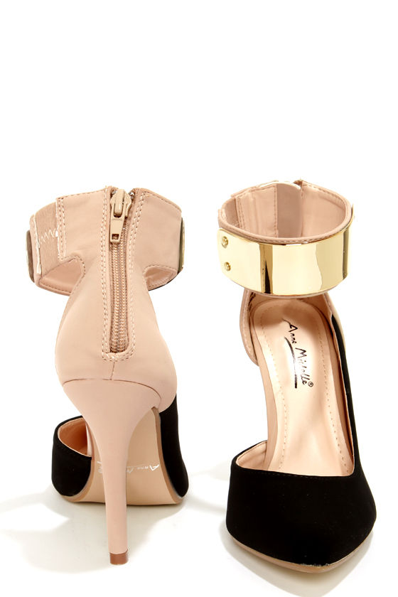 Sexy Ankle Strap Heels - d'Orsay Heels - Single Sole Heels - $36.00