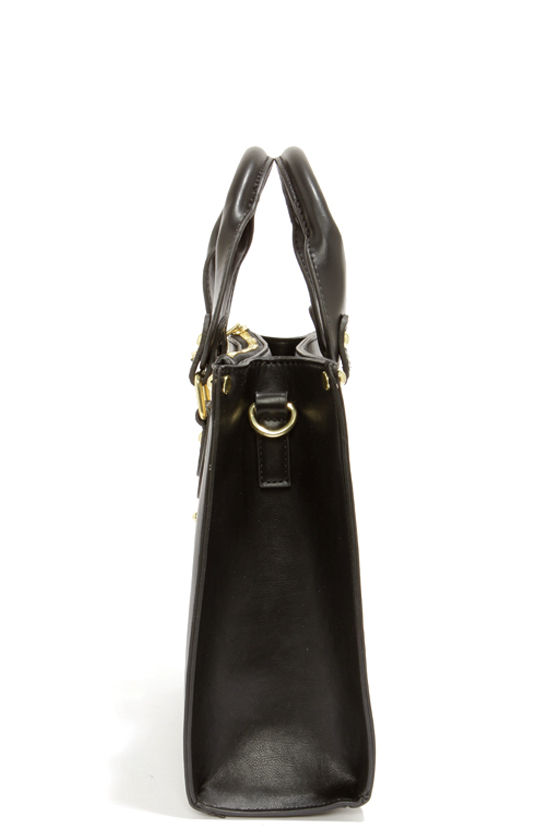 Steve Madden BBoxer Black Satchel at Lulus.com!