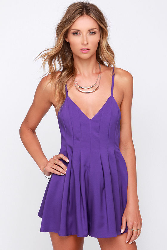 cute purple romper sleeveless romper purple playsuit