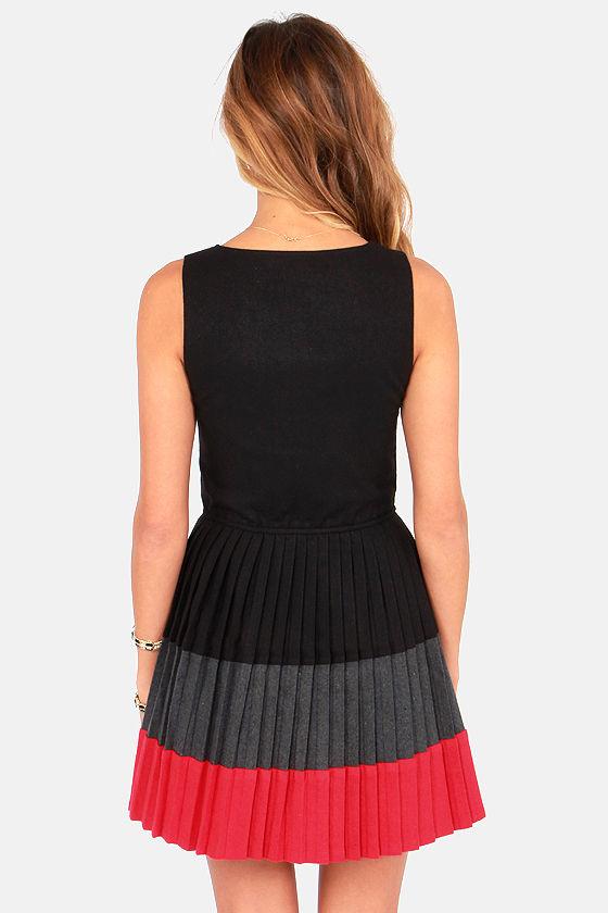 Lavand Kiss the Miss Color Block Black Dress at Lulus.com!