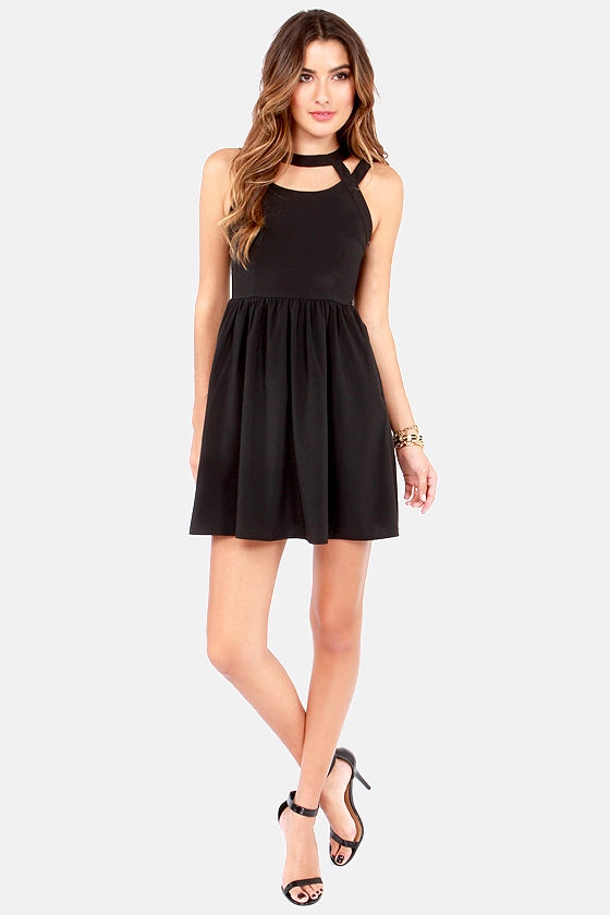 Lattice Quo Black Dress at Lulus.com!