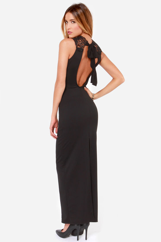 LULUS Exclusive In the Frill of the Night Black Maxi Dress at Lulus.com!