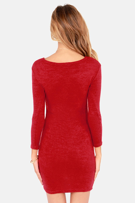Knitting on the Dock of the Bay Wine Red Sweater Dress at Lulus.com!