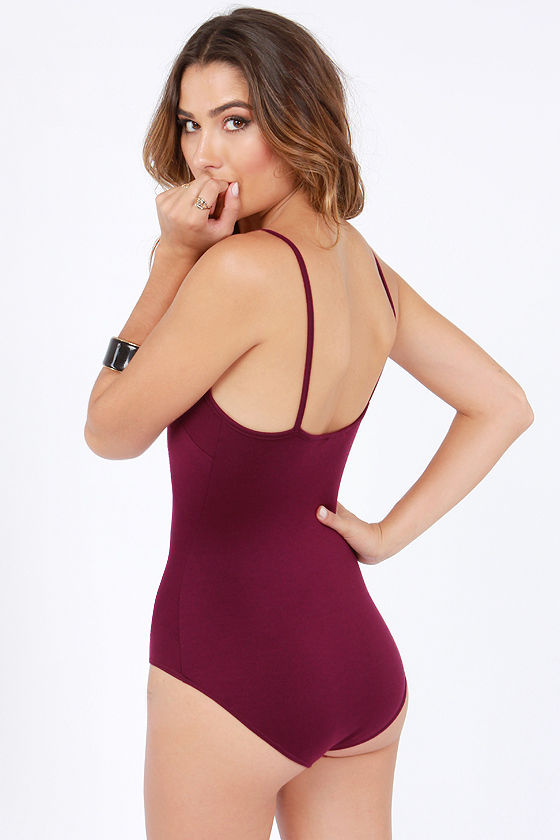 Loop Dreams Cutout Burgundy Bodysuit at Lulus.com!