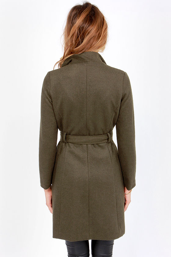 Calm Before the Storm Olive Green Coat at Lulus.com!