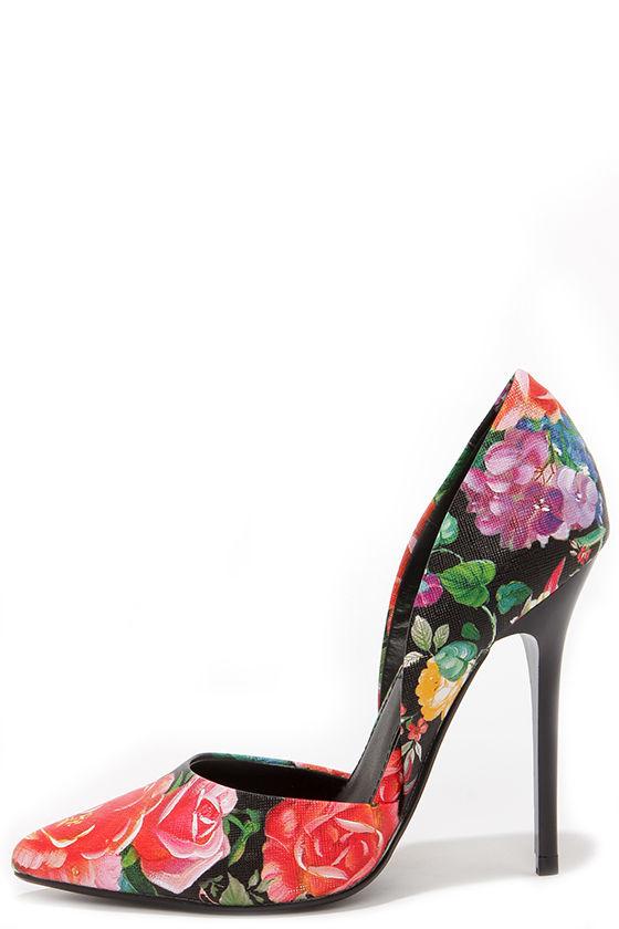 8903352da0d Pretty Floral Pumps - D Orsay Pumps - D orsay Heels -  89.00