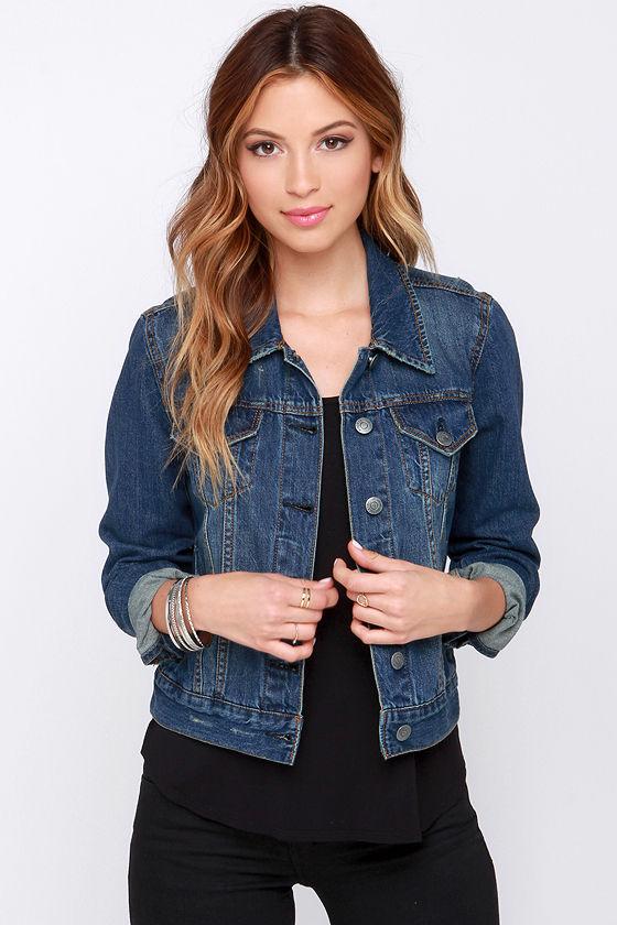 Cute Cropped Jacket - Denim Jacket - Jean Jacket - $55.00