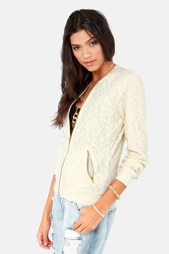 Others Follow Recycled Air Cream Lace Jacket at Lulus.com!