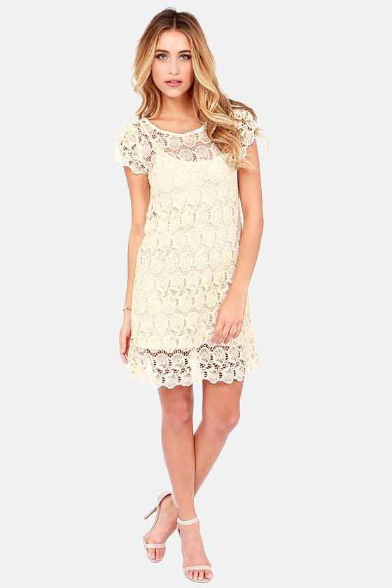 Black Swan Presley - Beautiful Lace Dress - A-line Dress - Cream ...