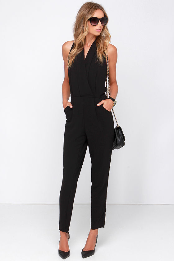 Chic Black Jumpsuit - Black Romper - Sleeveless Jumpsuit - $108.00