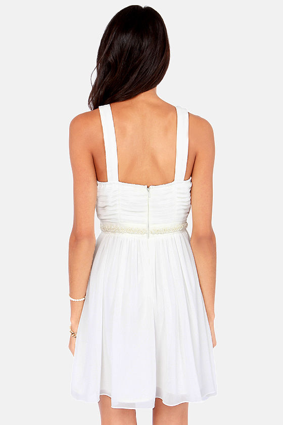 Seeing Bubbles Beaded White Dress at Lulus.com!