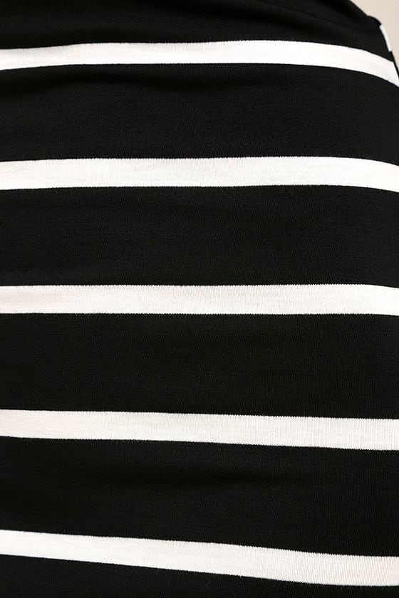 Heir Lines Black Striped Dress 6