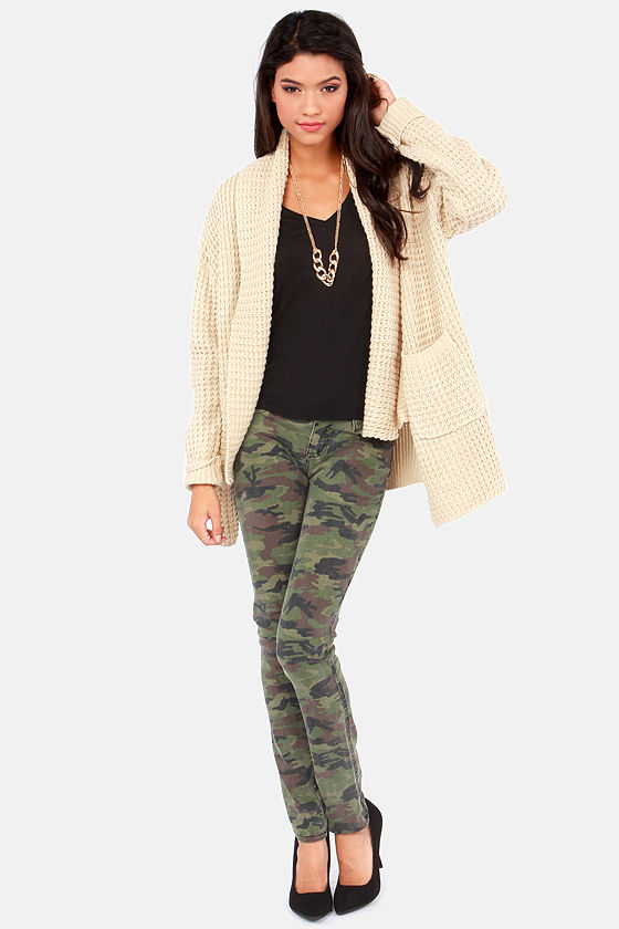 Cardi Party Beige Cardigan Sweater at Lulus.com!