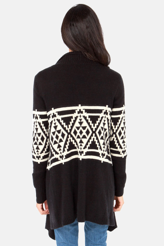 Southwest Side Story Cream and Black Cardigan Sweater at Lulus.com!