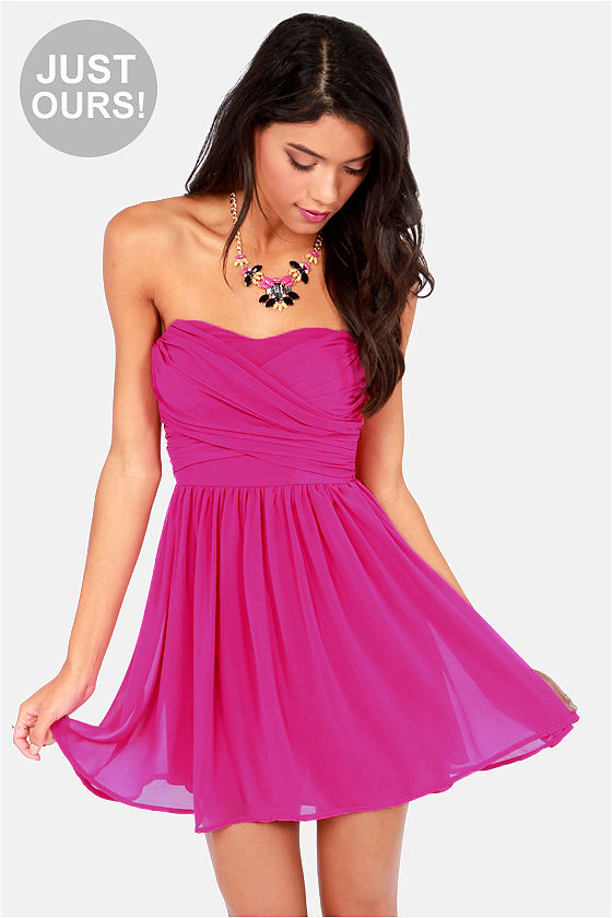 Magenta Party Dress