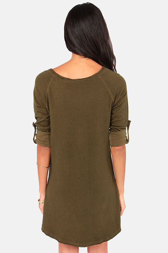 Others Follow Lyric Olive Green Sweater Dress at Lulus.com!