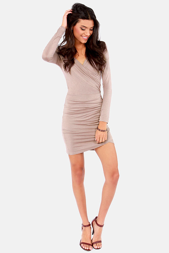 The Best of Times Taupe Dress at Lulus.com!