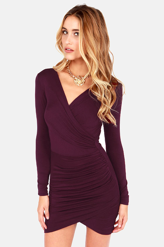 c41adc4a07 Long Sleeve Burgundy Dresses – Dresses for Woman