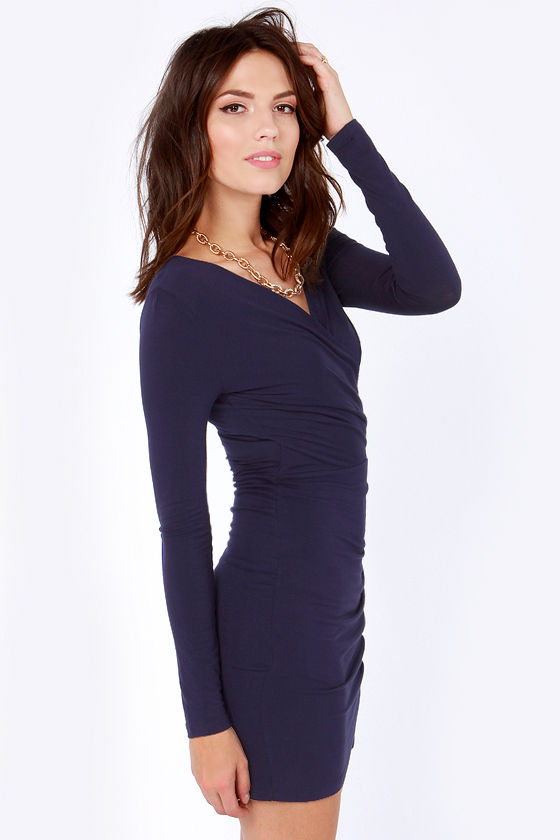 The Best of Times Navy Blue Dress at Lulus.com!