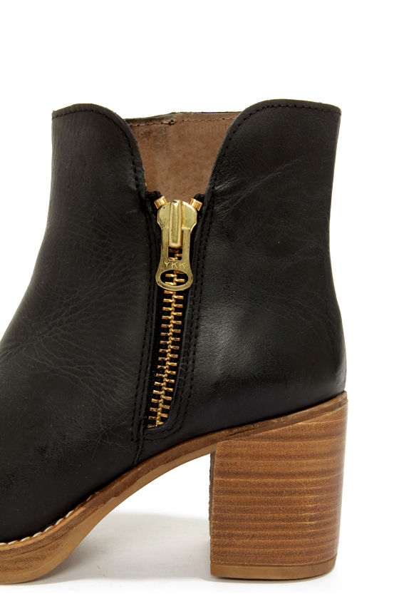 MTNG Becca 90223 Rustico Black High Heel Ankle Boots at Lulus.com!