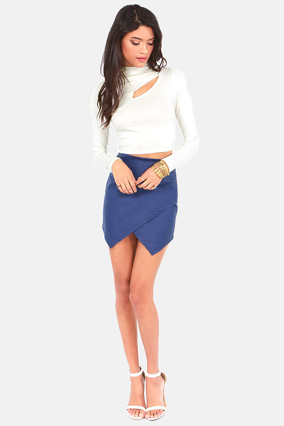 Slit's About Time Ivory Crop Top at Lulus.com!