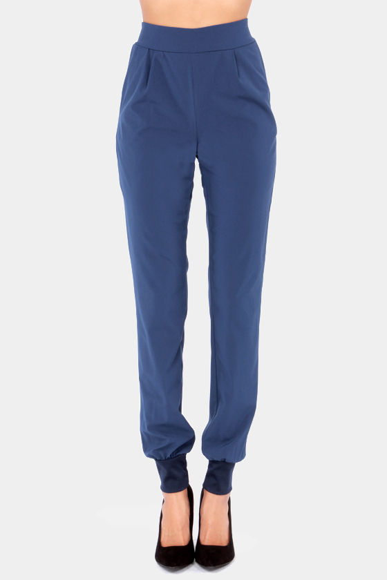 Now You're Walking! Blue Harem Pants at Lulus.com!